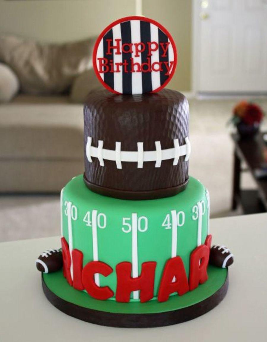 Football Cake For Richard Cakecentral Com