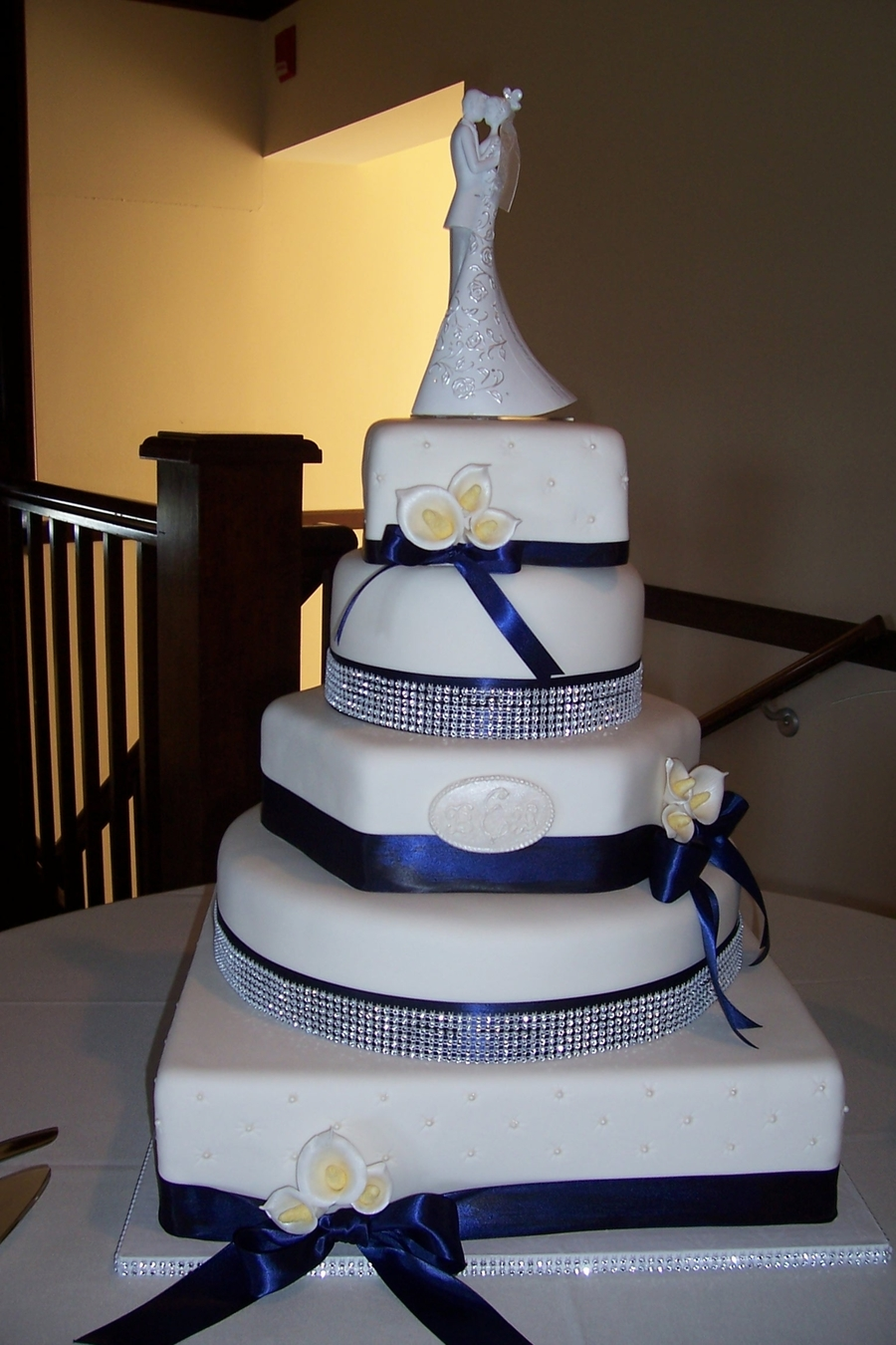 Navy And White Wedding on Cake Central