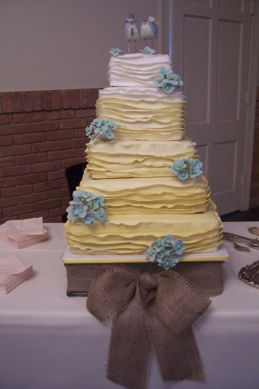 Little Birdie Wedding Cake on Cake Central