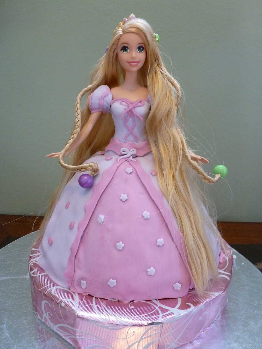Tangled Doll Cake  on Cake Central