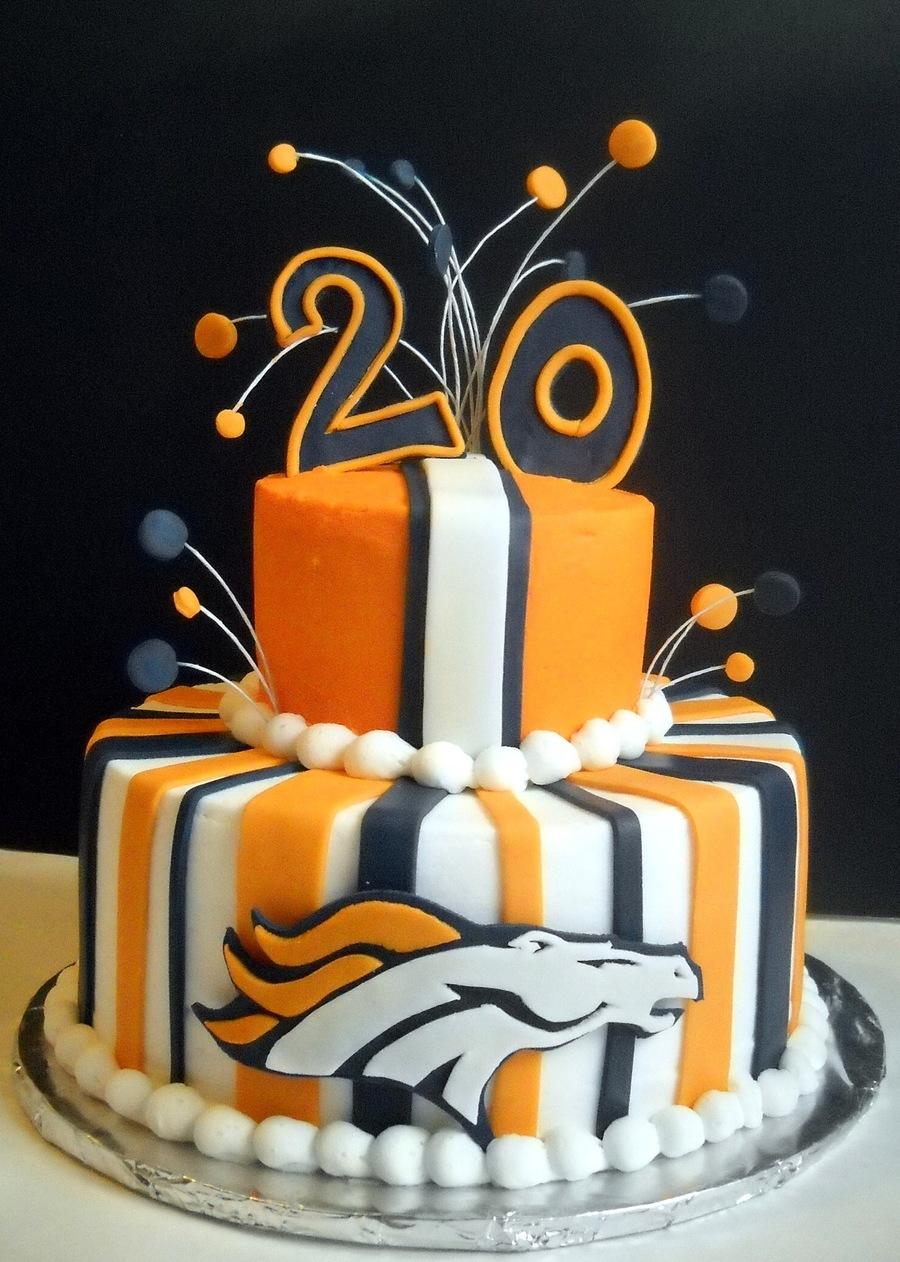Terrific Denver Broncos Birthday Cakecentral Com Birthday Cards Printable Trancafe Filternl