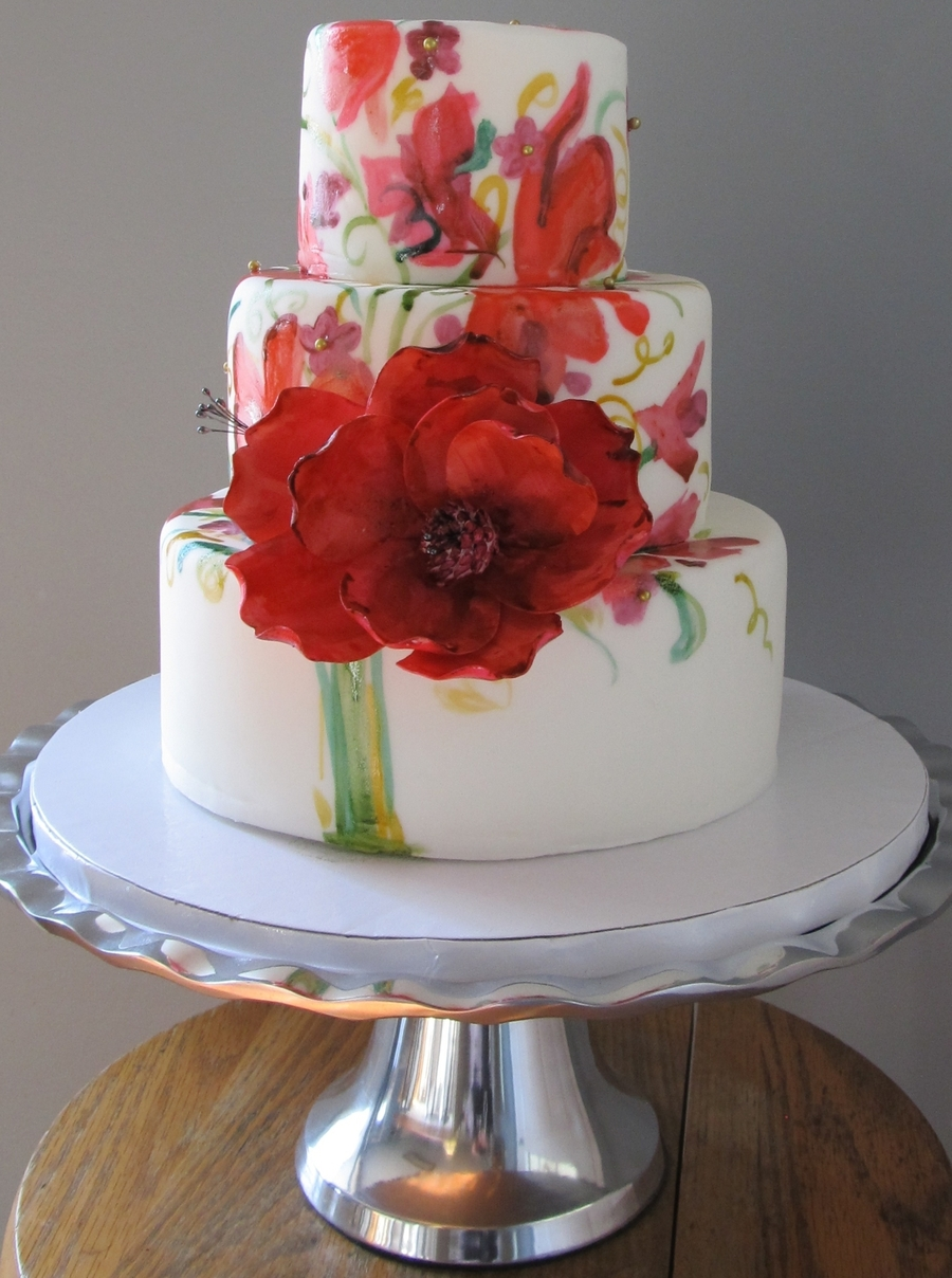 Wedding Bouquet Cake  on Cake Central