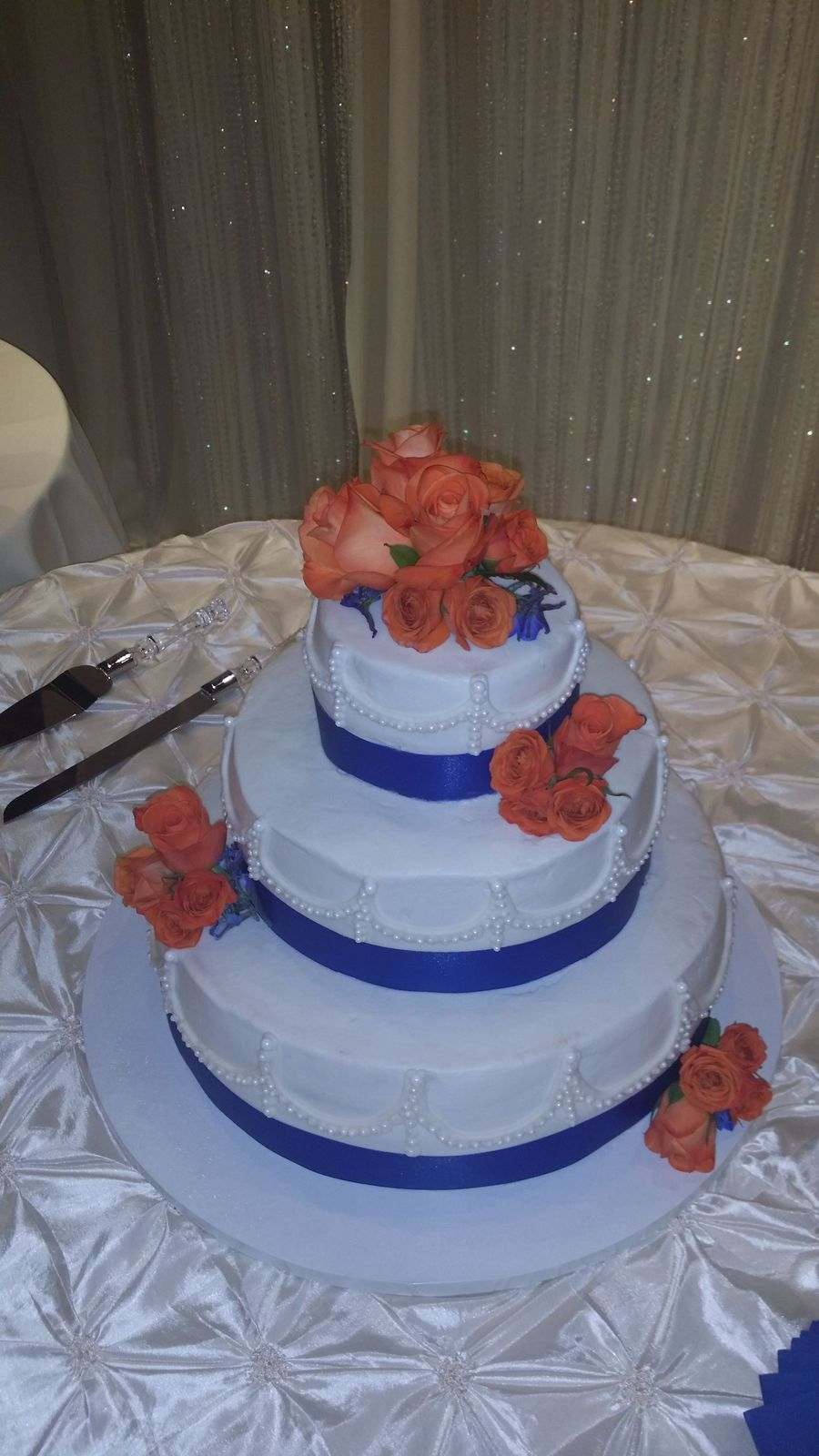 royal blue themed wedding cakes royal blue and orange themed wedding cake was wedding 19368