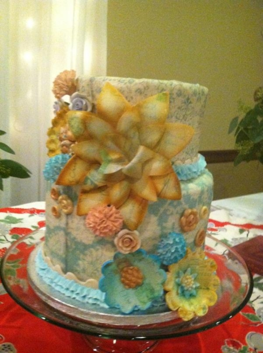 Antique Flowers on Cake Central