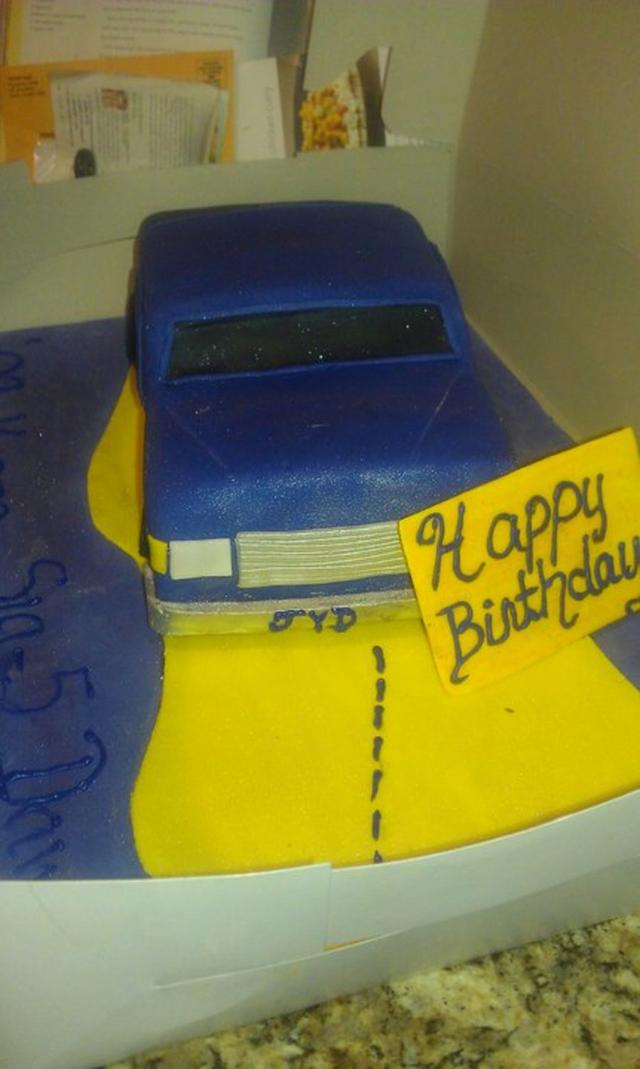 Omega Box Chevy Car on Cake Central