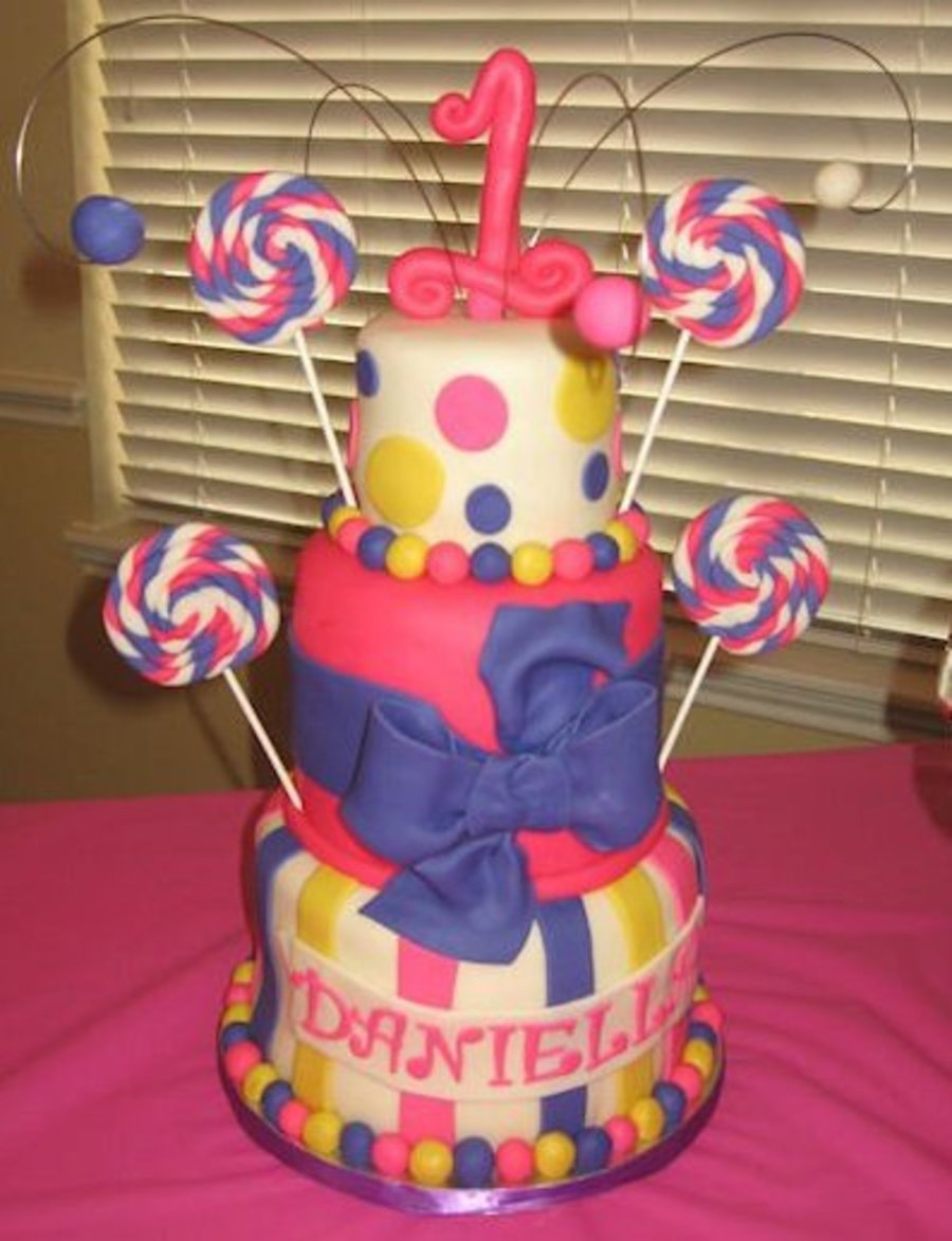 1st Candy Themed Birthday Cake Cakecentral