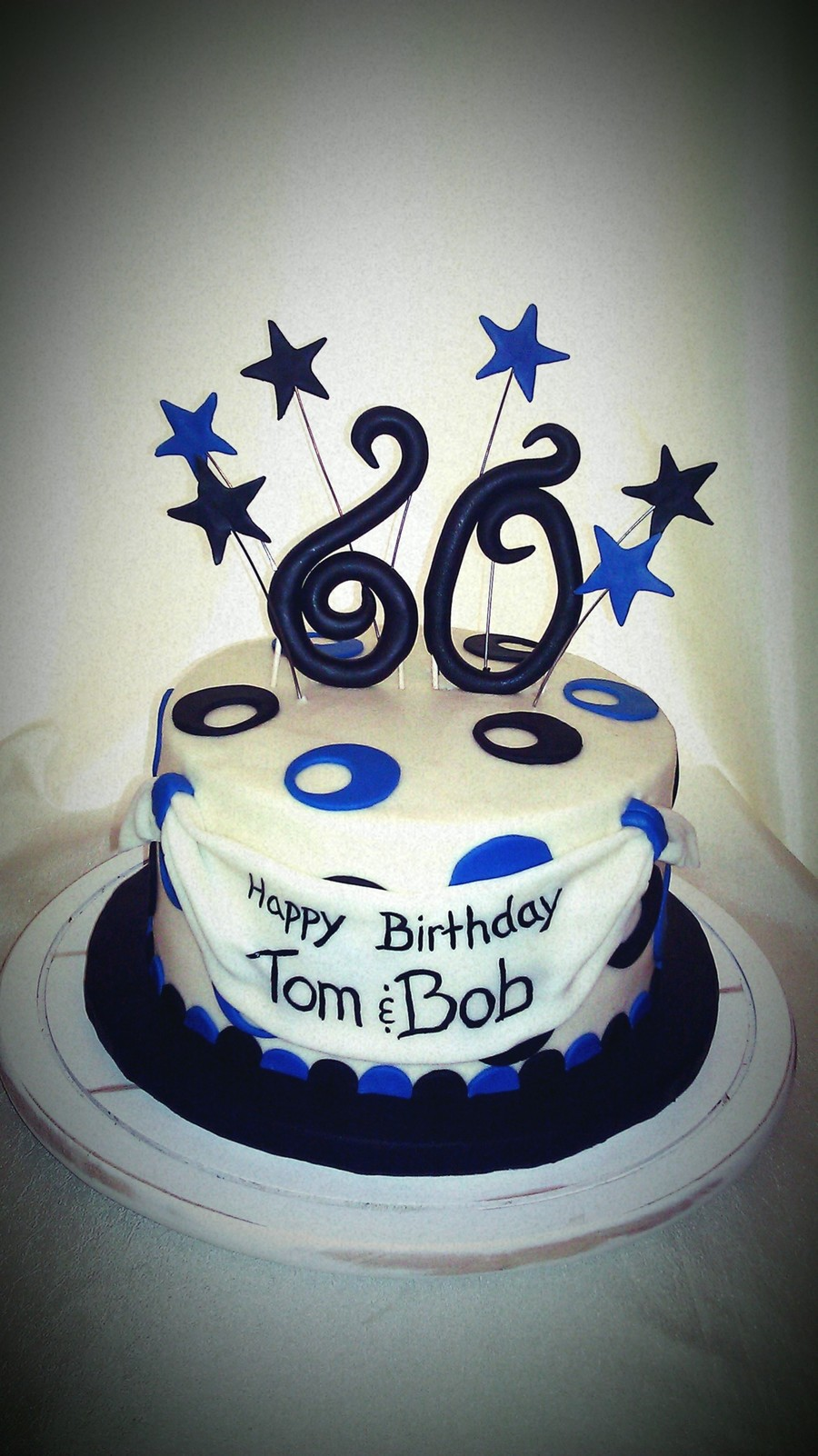 Blue And Black 60th Birthday Cake Cakecentral