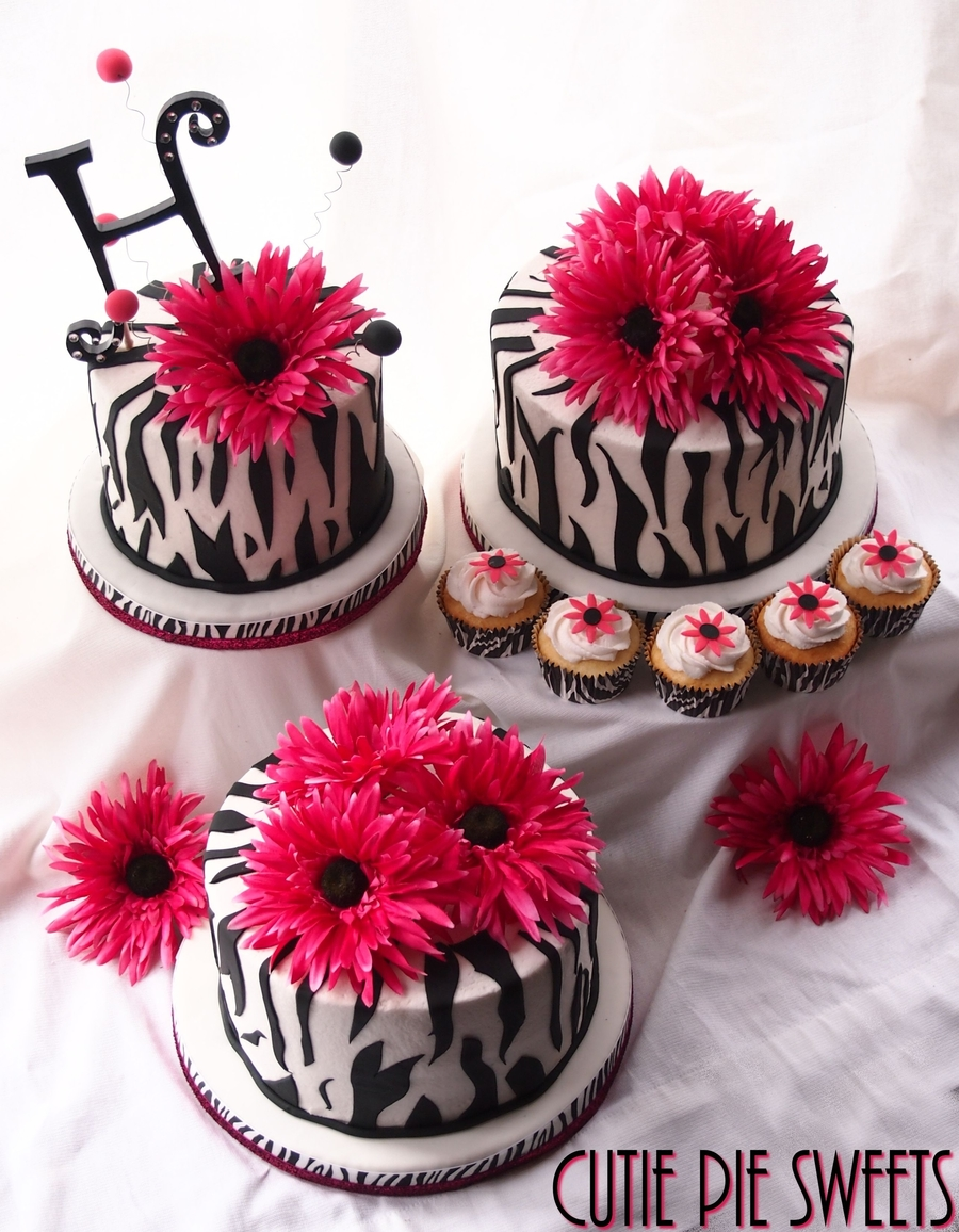 Pink Zebra Wedding Cake Cupcakes On Central