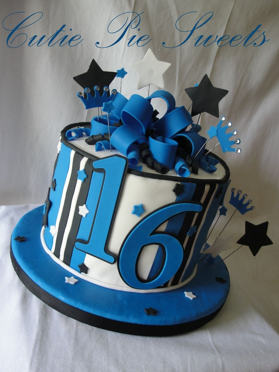 Th Birthday Cakes Blue Amp