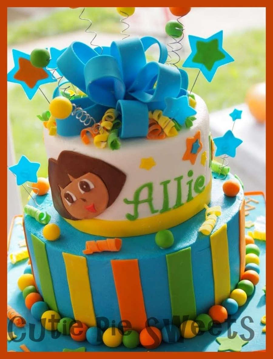 Dora Birthday Cake on Cake Central