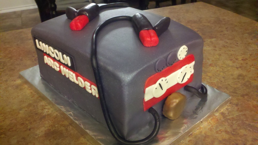 Lincoln Arc Welder Welding Machine Grooms Cake on Cake Central