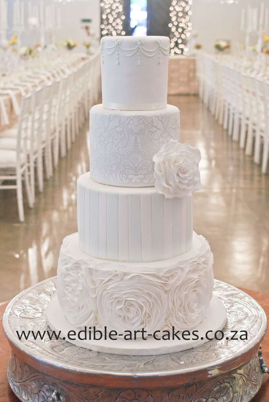 Elegant Mixed 4 Tier Cake on Cake Central