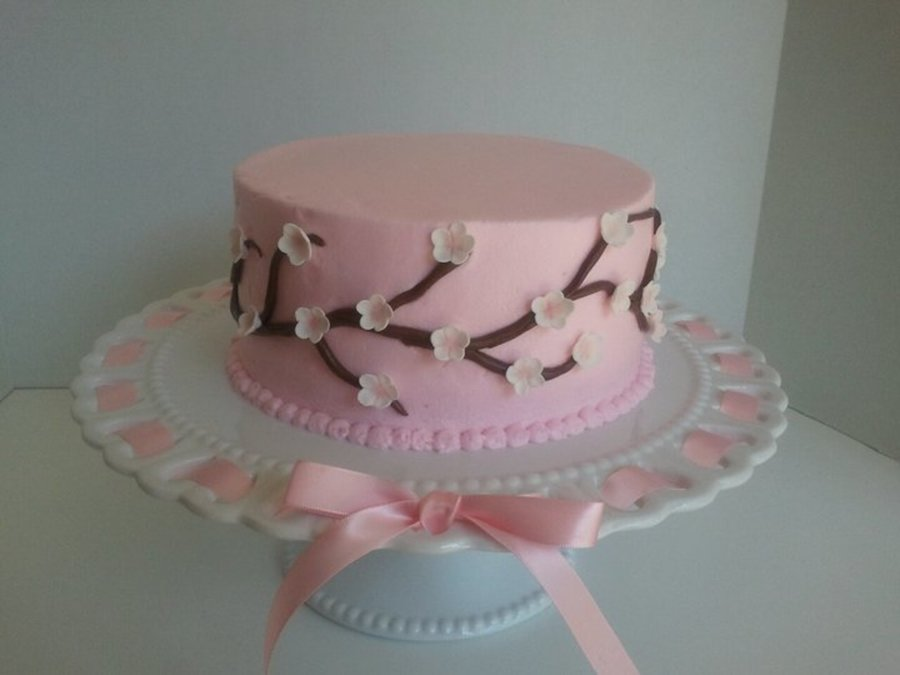 Pink With Cherry Blossoms on Cake Central