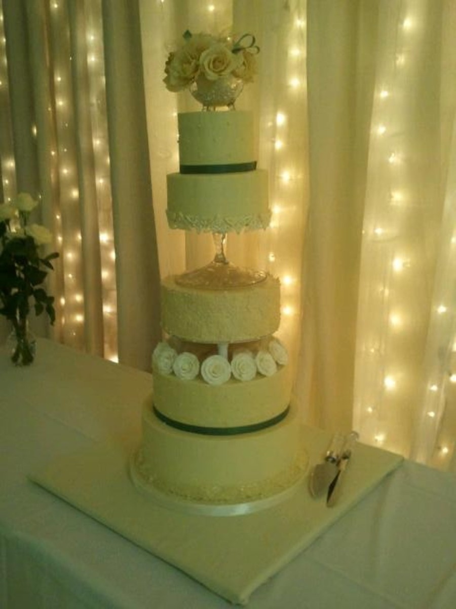 My First Wedding Cake, All Buttercream Celtic Theme - CakeCentral.com