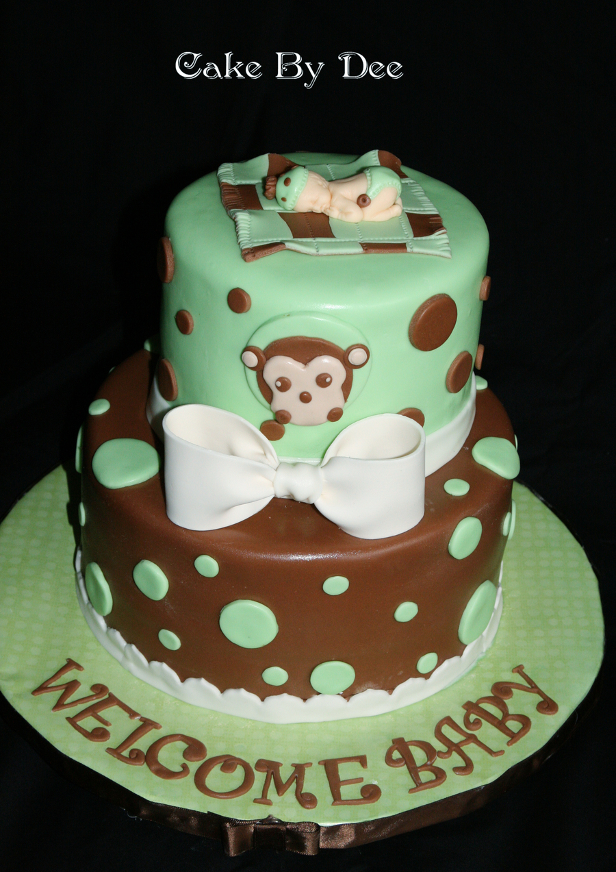 Monkey Baby Shower Cake on Cake Central