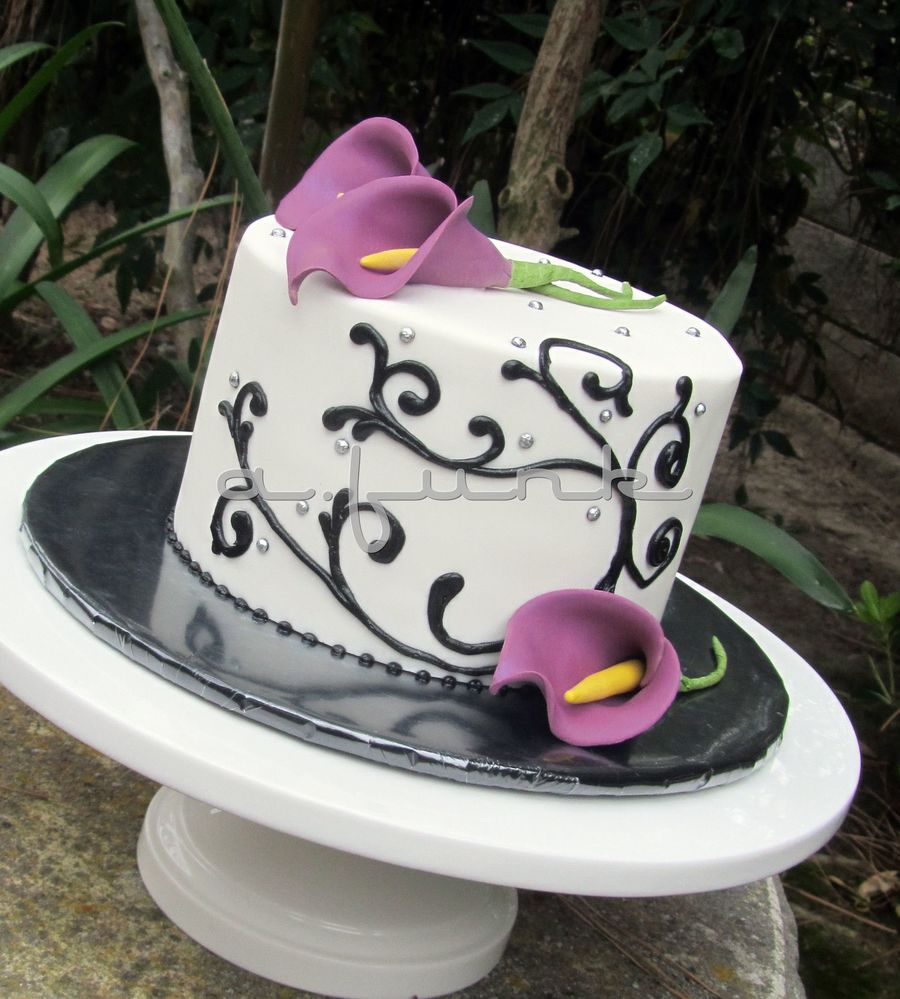 Purple Calla Cake  on Cake Central
