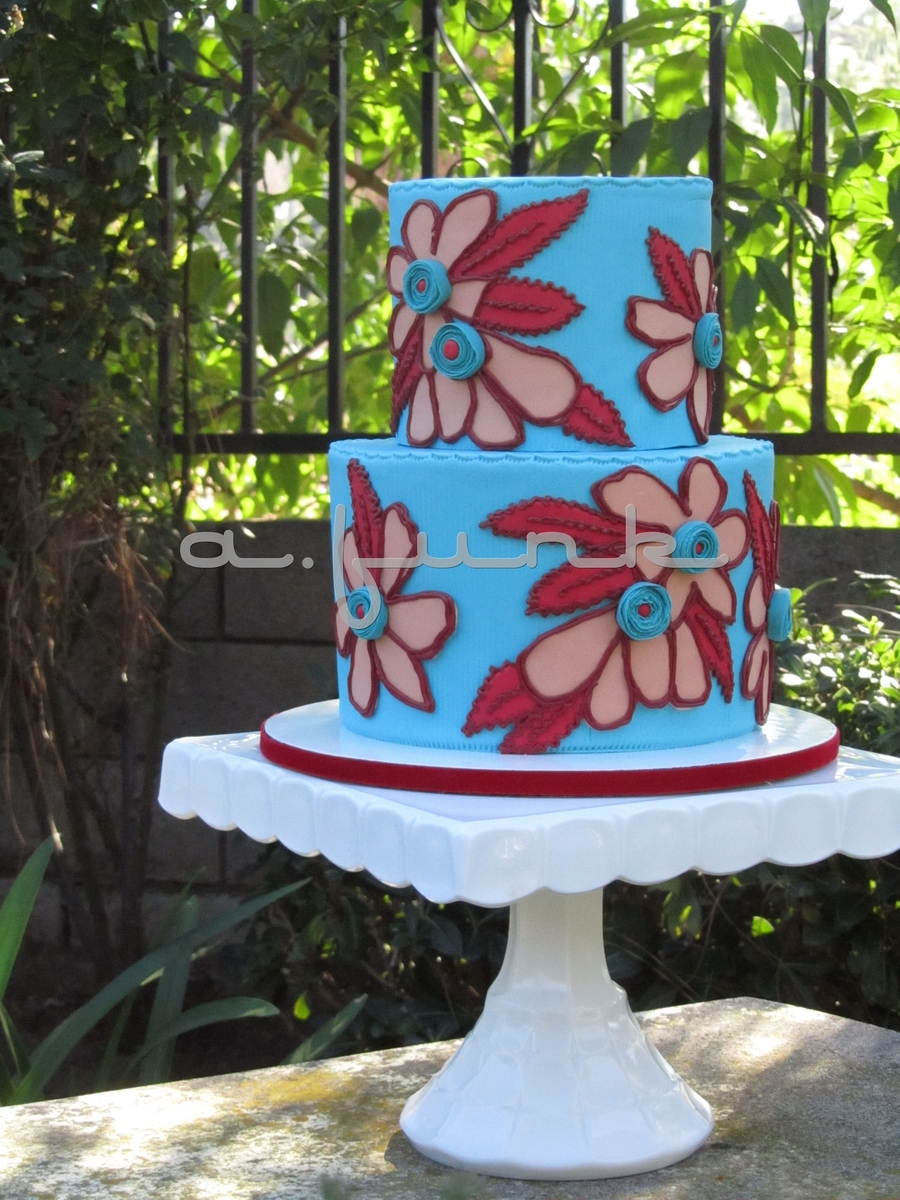 Fun Flowers Cake  on Cake Central