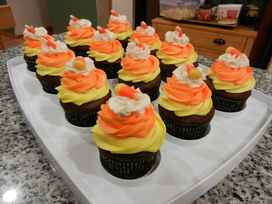 Candy Corn Cupcakes on Cake Central