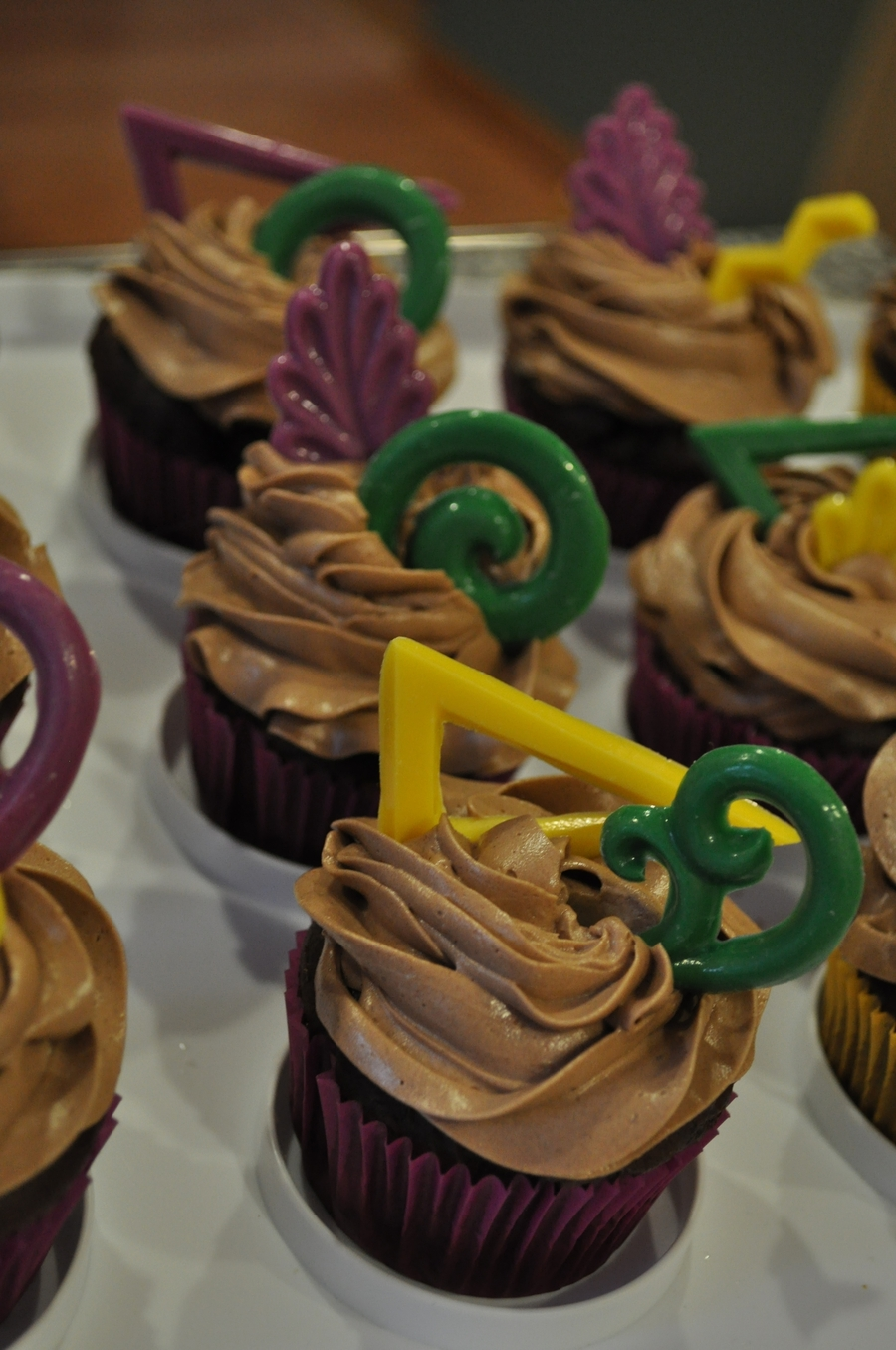 Last Minute Mardi Gras Cupcakes on Cake Central