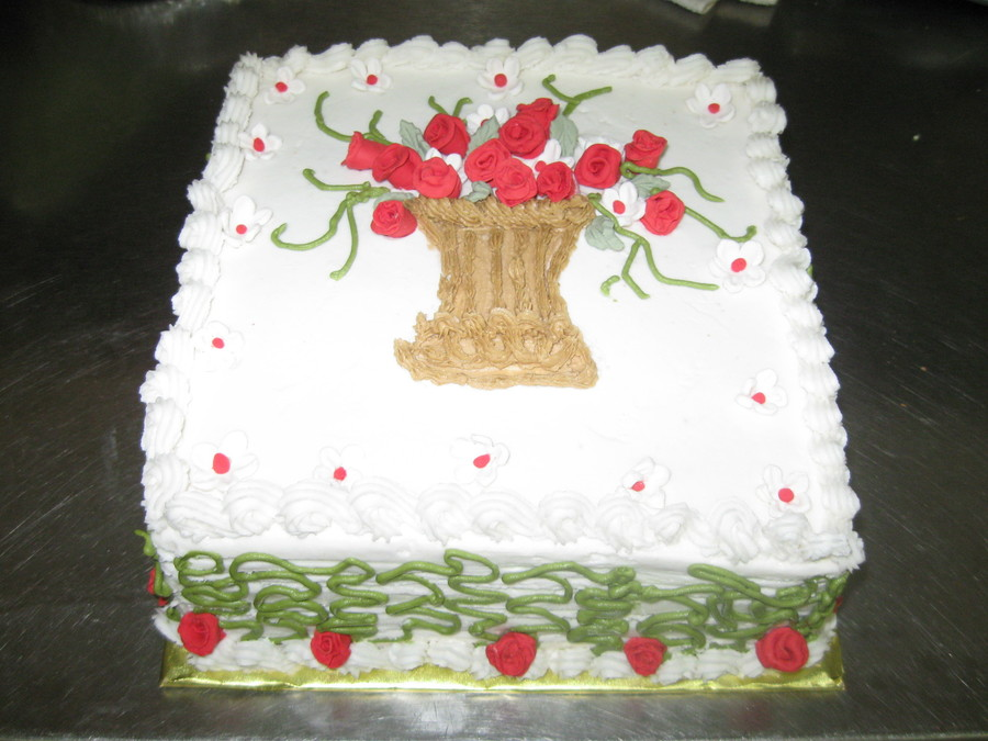 Red/green Square Cake on Cake Central