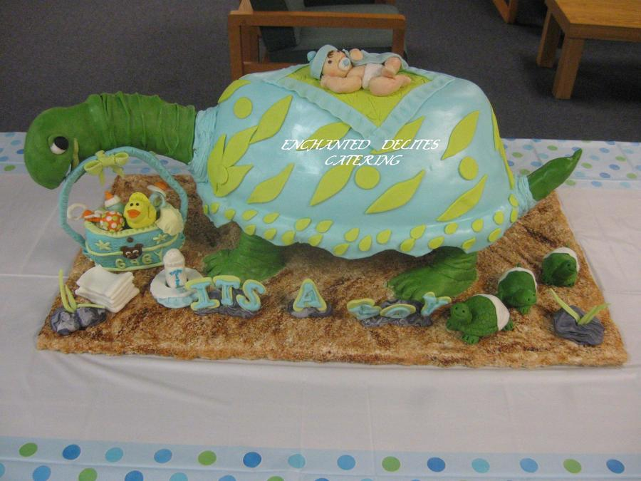 Baby Shower Turtle Cake on Cake Central