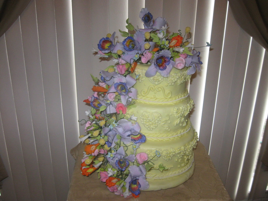 Lavender Orchid Cake on Cake Central