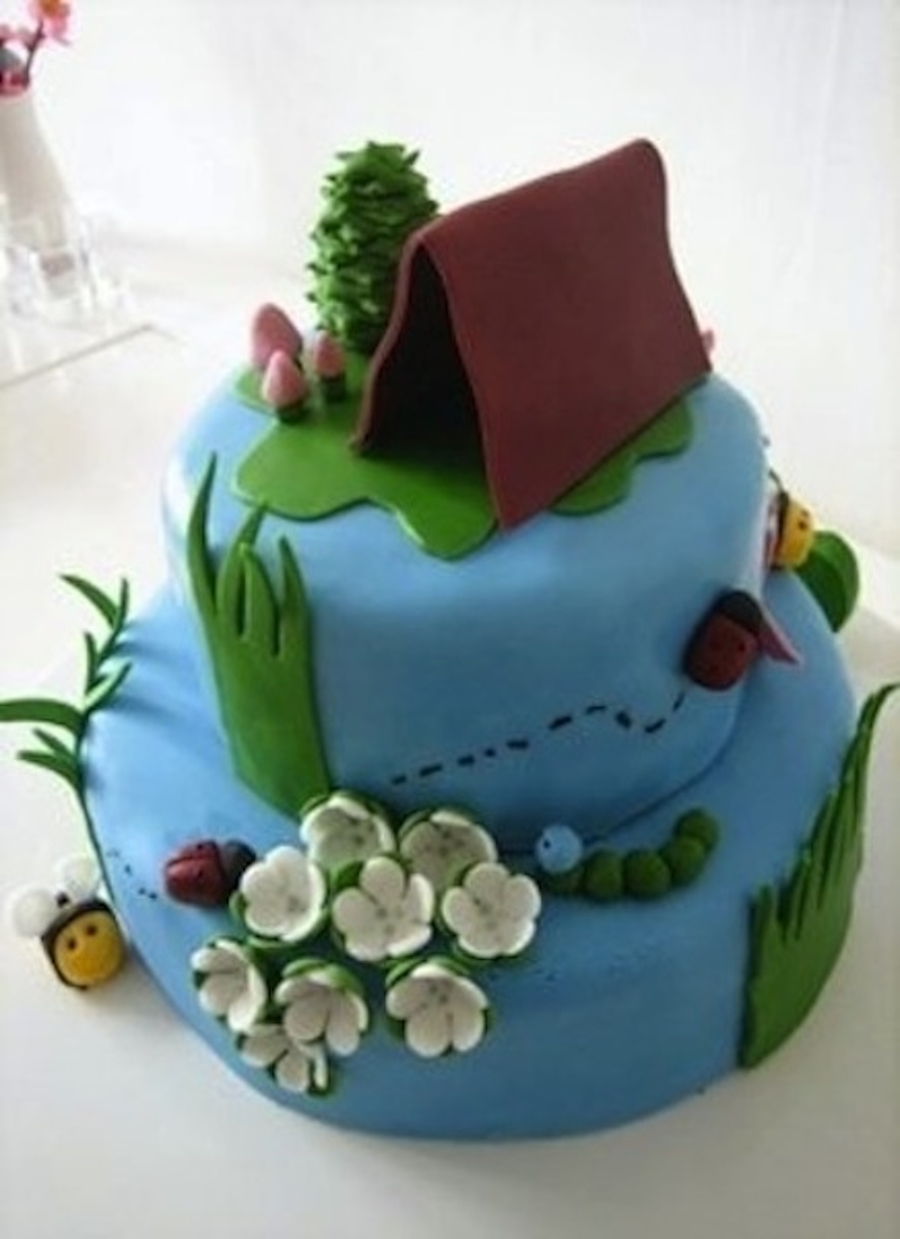 Camping Cake  on Cake Central