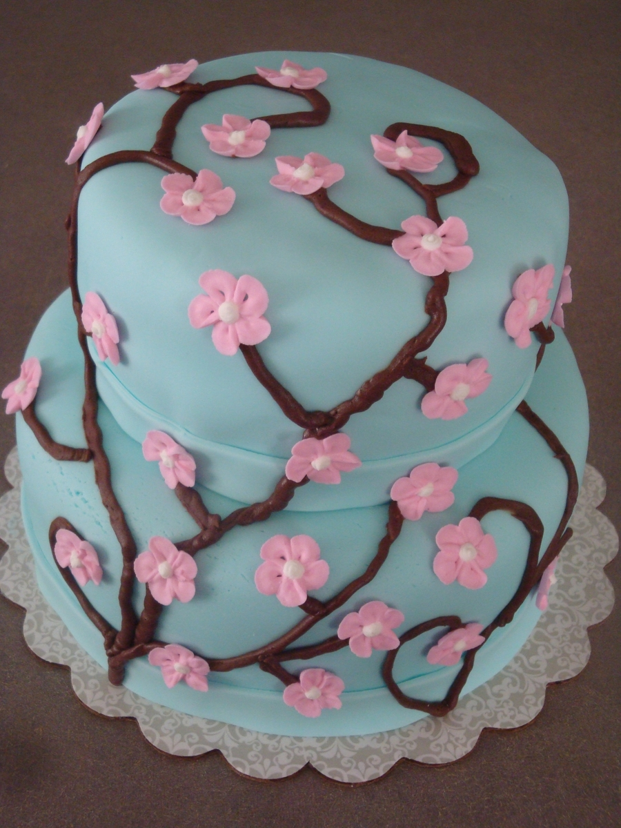 Cherry Blossom Cake  on Cake Central