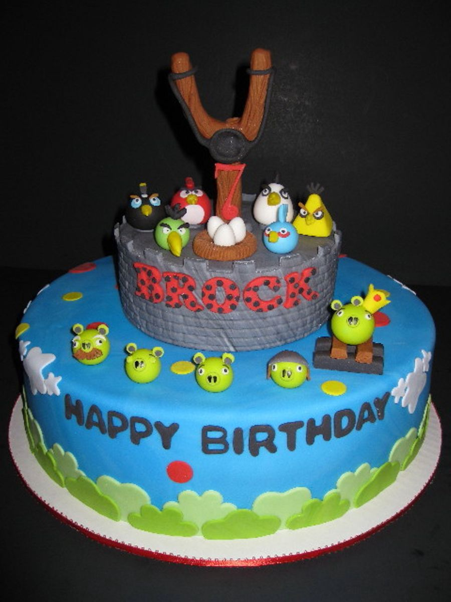 Brock's Angry Bird's Birthday on Cake Central