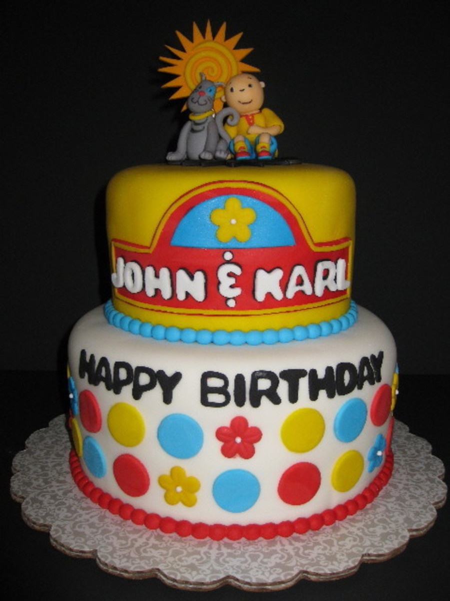 Marvelous Caillou Birthday Cake Cakecentral Com Funny Birthday Cards Online Alyptdamsfinfo