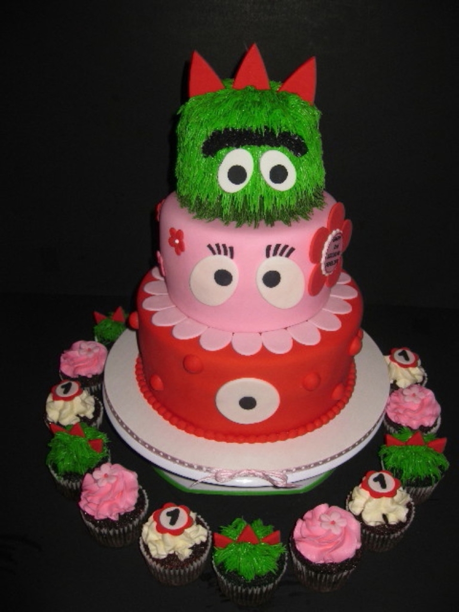 Girly Yo Gabba Gabba Birthday Cake on Cake Central