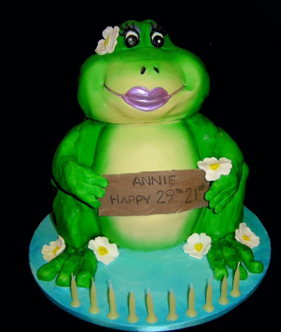 3D 50Th Birthday Frog Cake on Cake Central