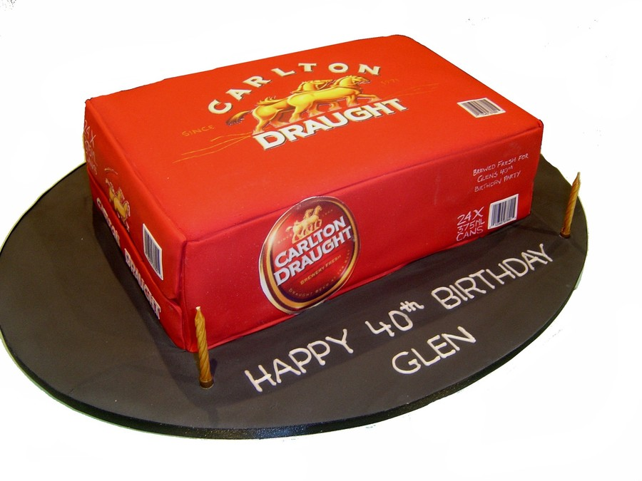 Decorating A Beer Box Cake