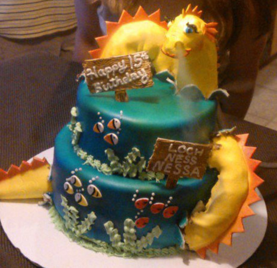 Sea Serpent Cake on Cake Central
