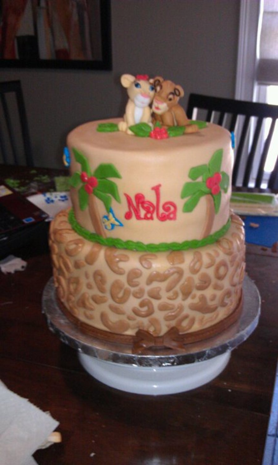 Simba And Nala Lion King Cake CakeCentralcom