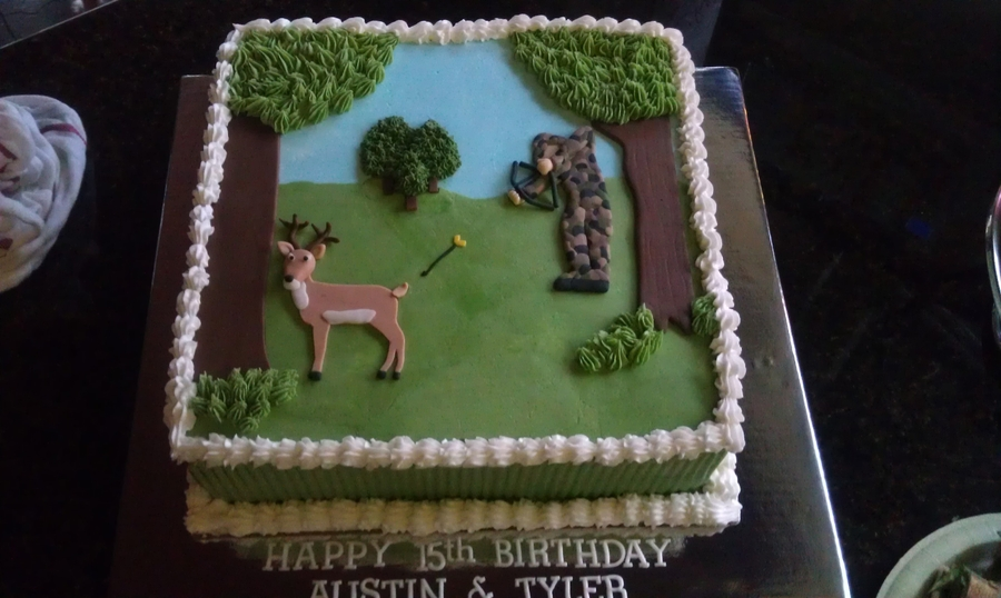 Bow Hunting Cake Cakecentral Com
