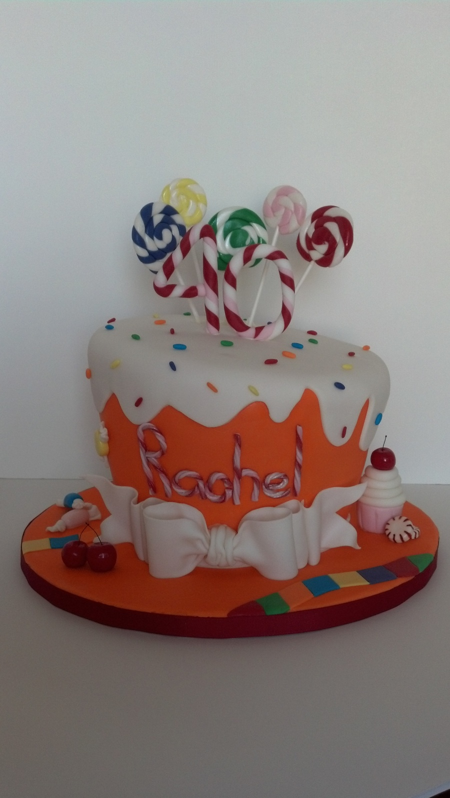 Cake Central Edible Images : Candyland Birthday Cake With Edible Fondant Candy ...