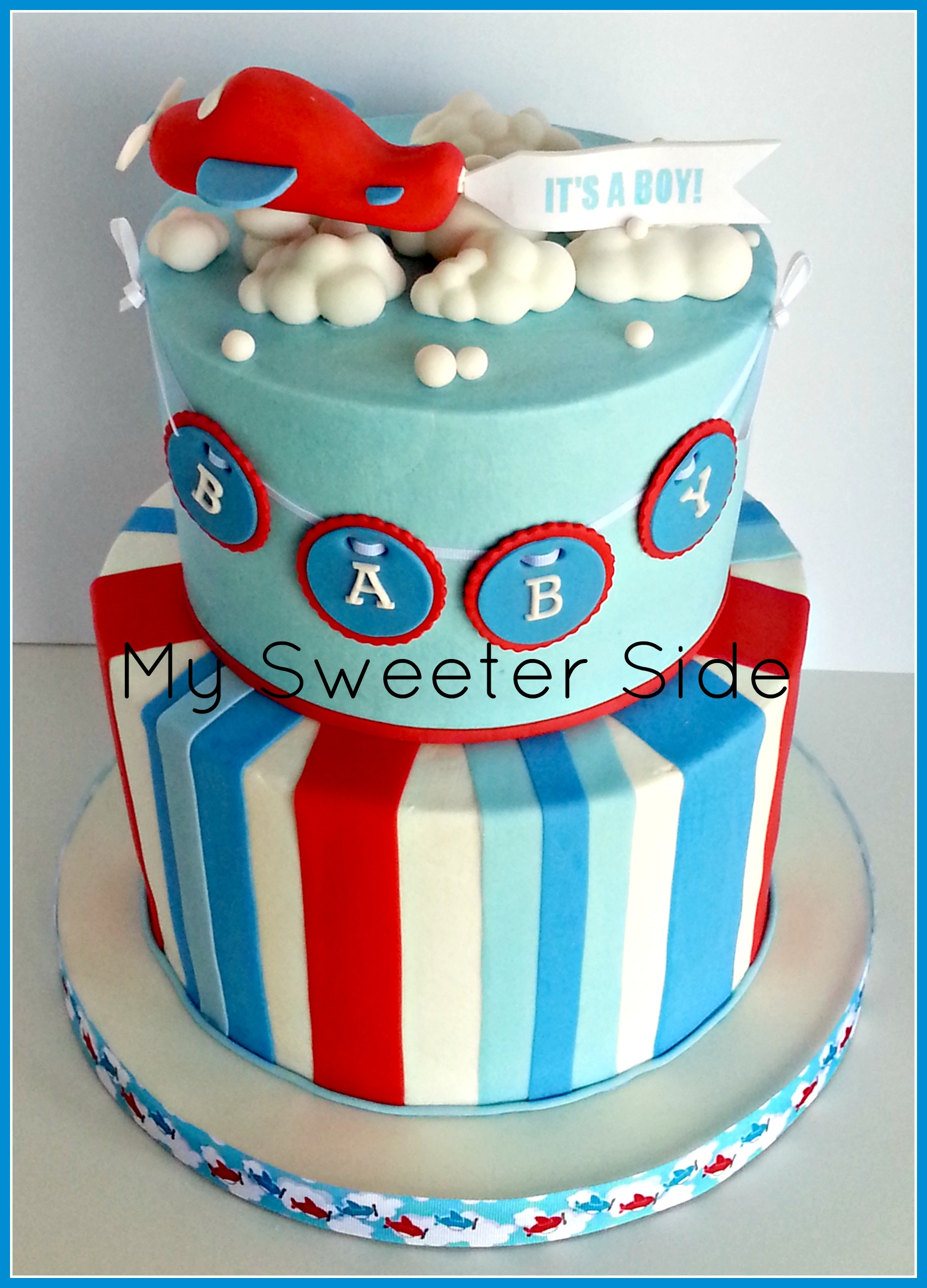 Airplane Baby Shower Cake CakeCentral