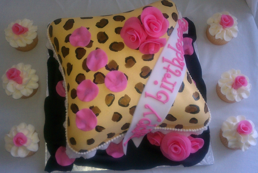 Leopard Pillow Cake on Cake Central