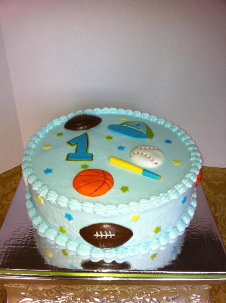 Sport Theme 1St Birthday on Cake Central