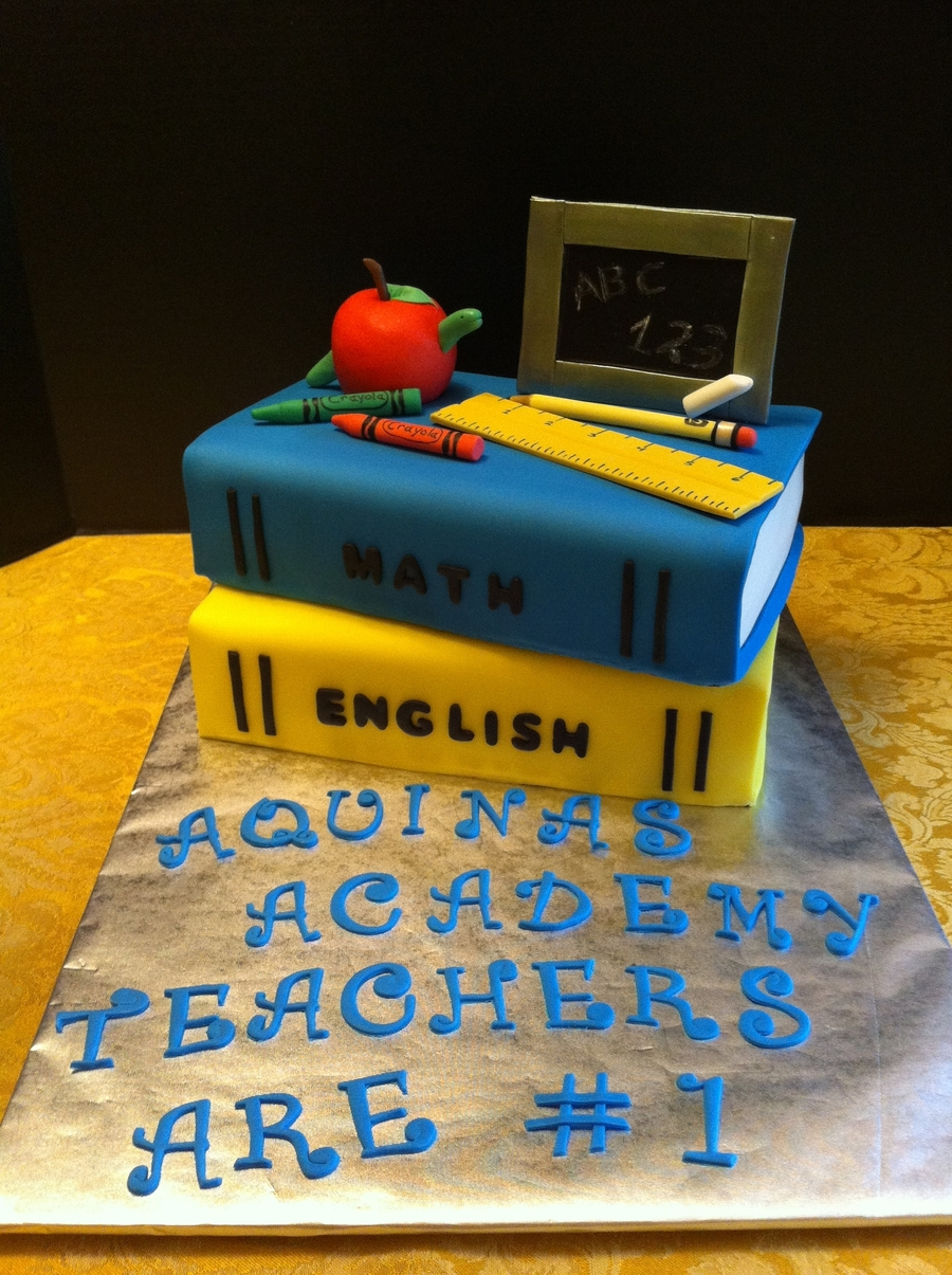 Teachers Cake  on Cake Central
