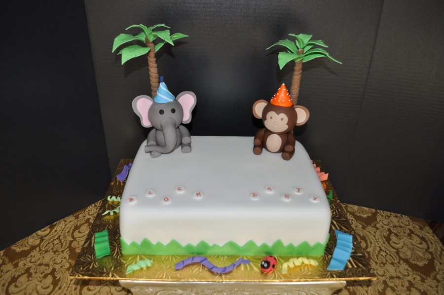 Block Party - Jungle Animals on Cake Central