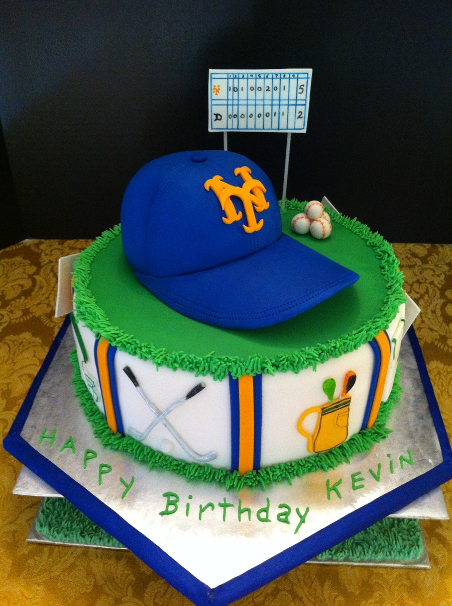 Mets And Golf Birthday Cake on Cake Central