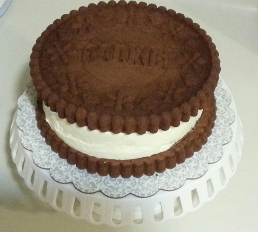 Oreo/cookie Cake With Vanilla Ice-Cream