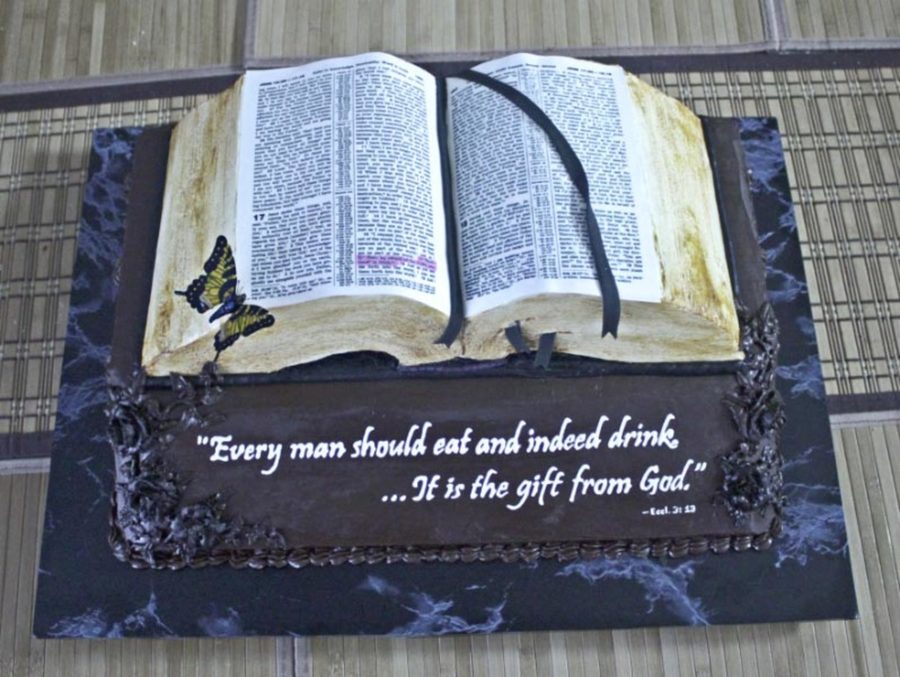 Bible Cake With Printed Icing Sheet on Cake Central