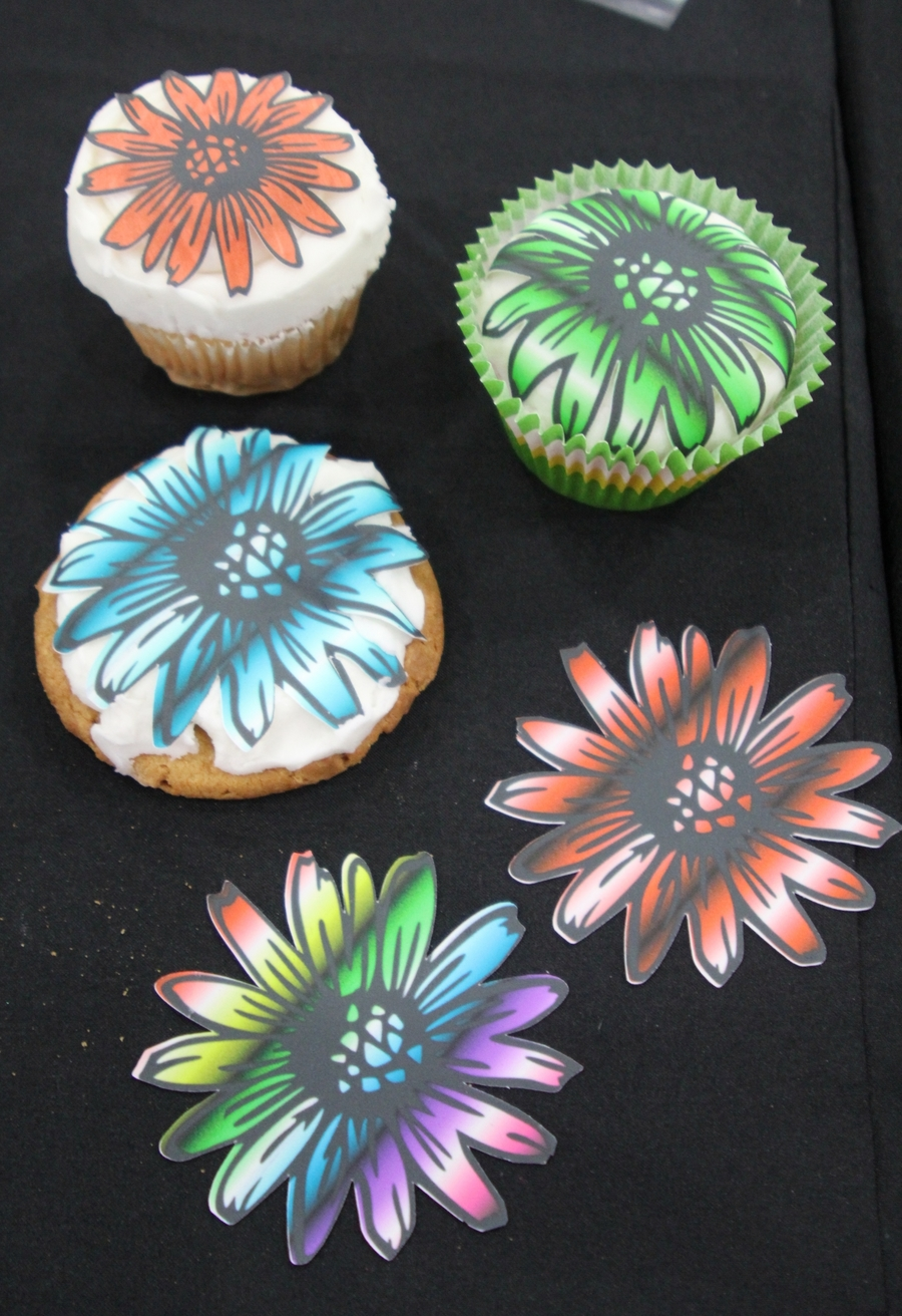 Fun Flower Using Print And Cut on Cake Central