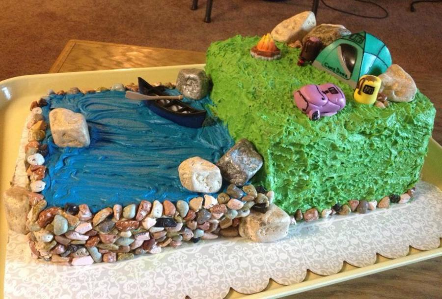 Rei Themed Outdoor Cake on Cake Central
