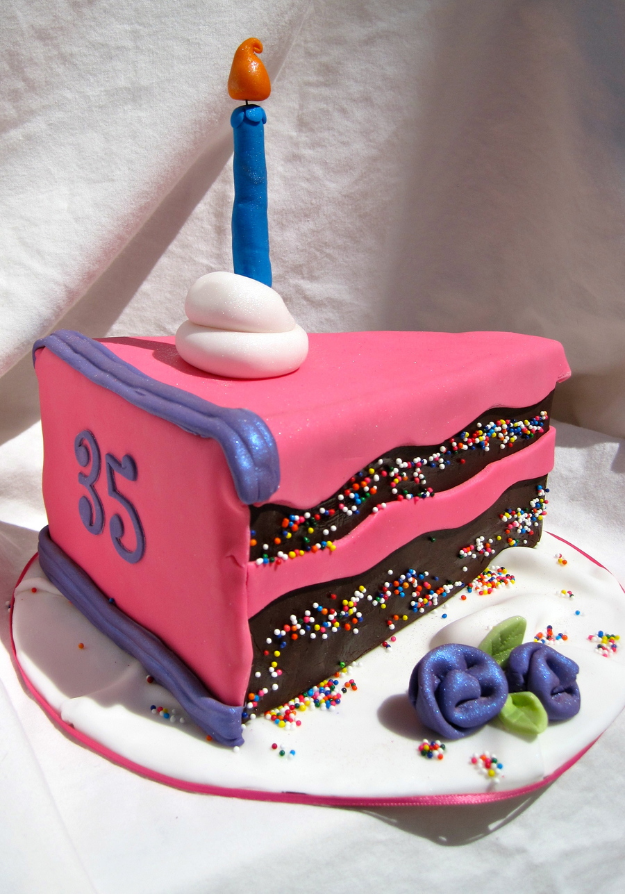 Slice Of Cake Birthday Cake! on Cake Central