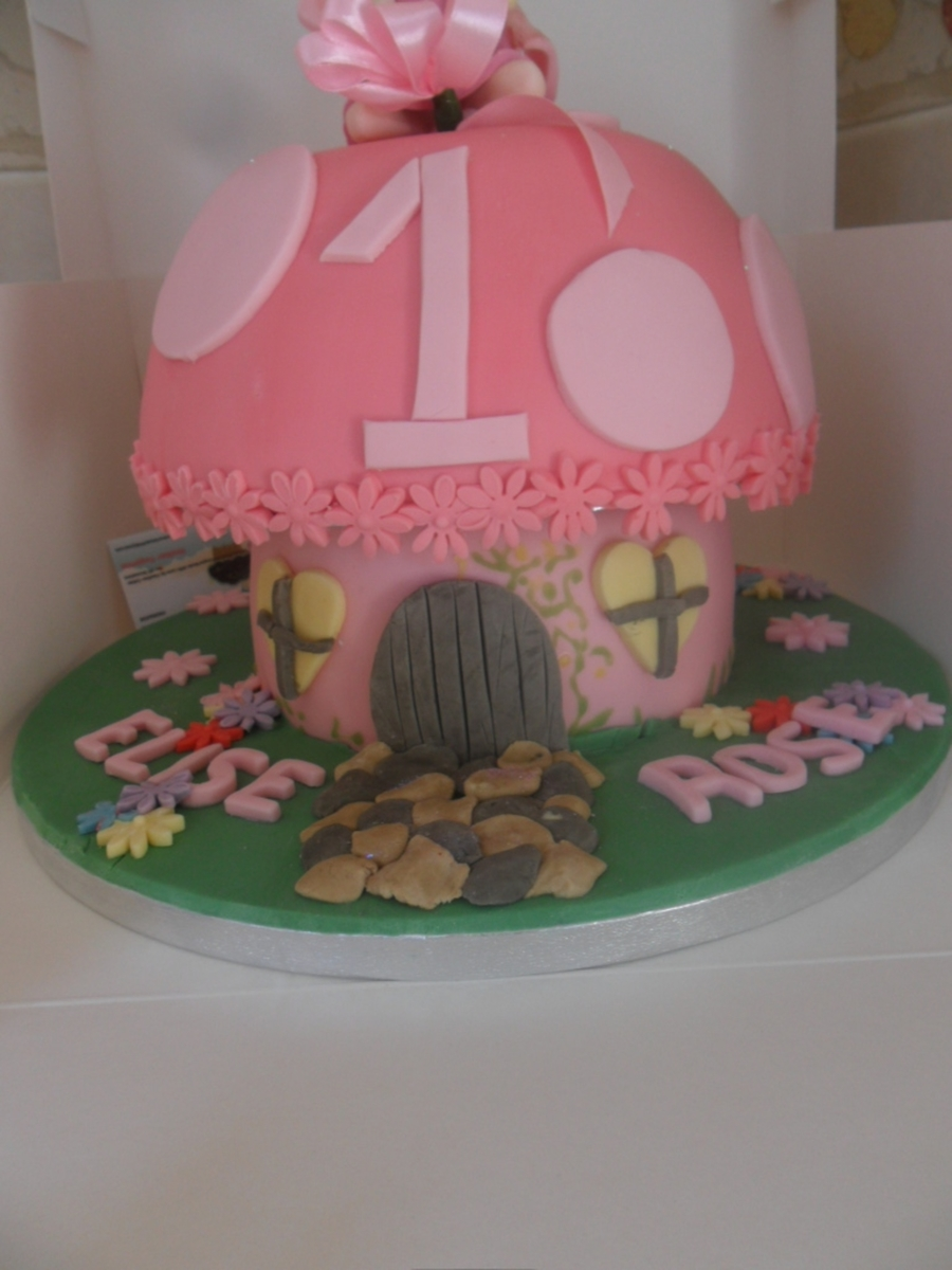 Mushroom House on Cake Central