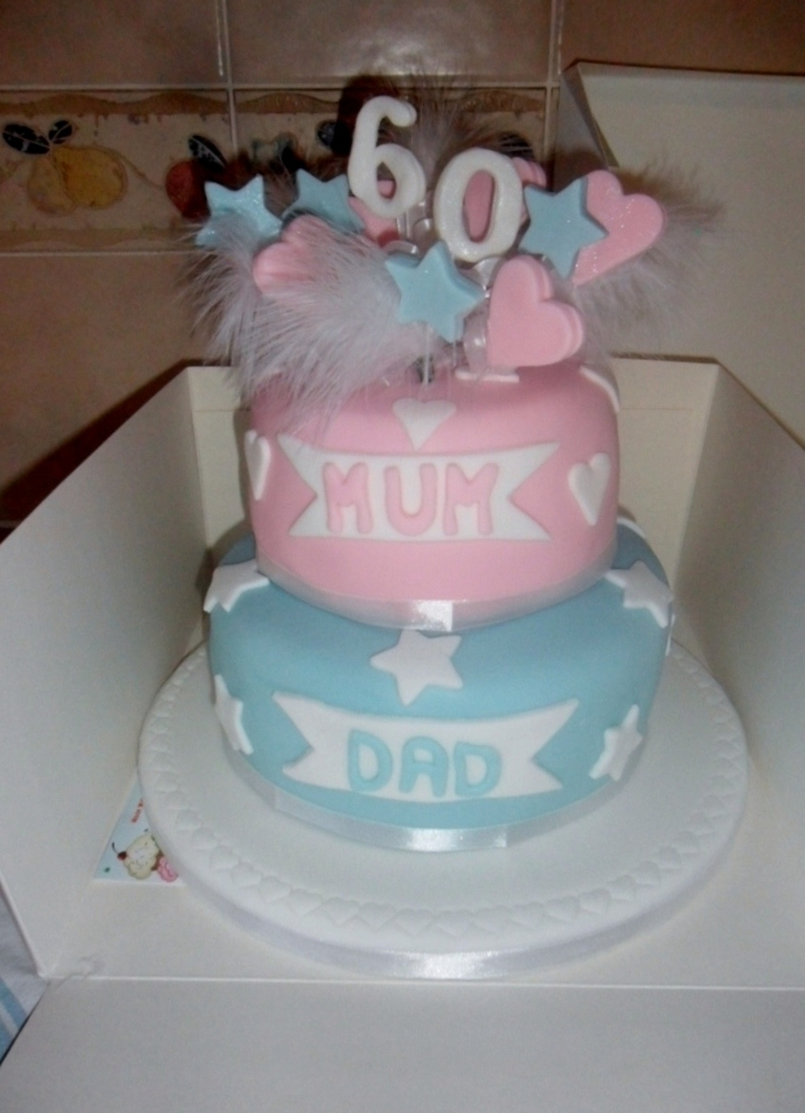 Mum And Dads 60Th on Cake Central